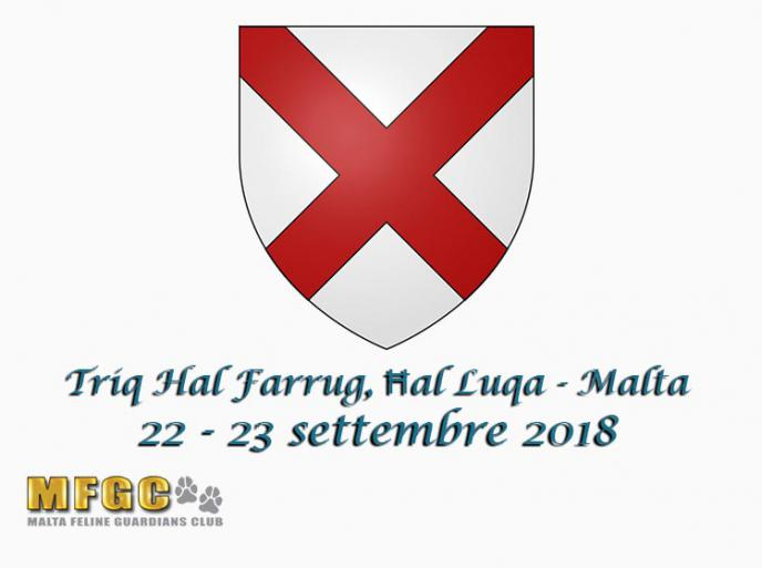 22 e 23 settembre 2018 78th & 79th International Cat Show MGFC WCF Malta