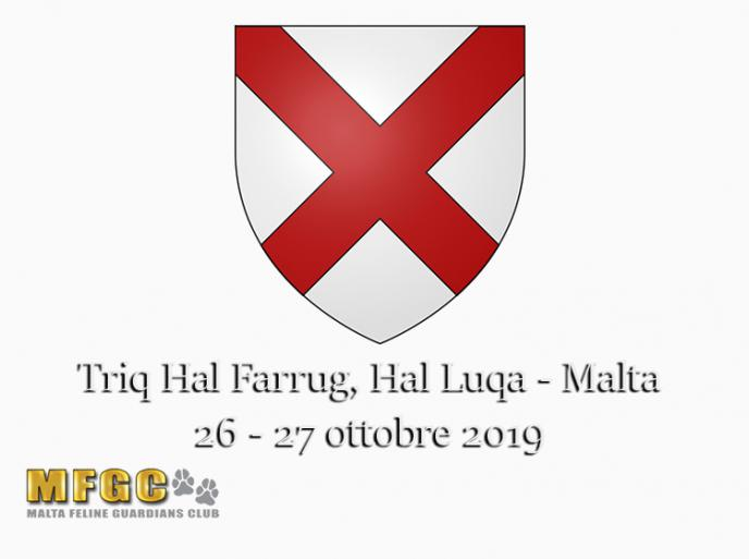 26 e 27 ottobre 2019 Intenational Cat Show MGFC WCF Malta