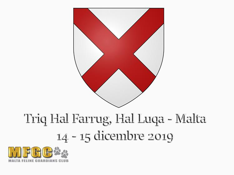 14 - 15 dicembre 2019 96th & 97th Golden Cat Show MGFC WCF Malta